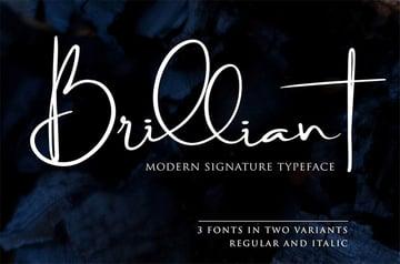 Brilliant Signature Type Fonts