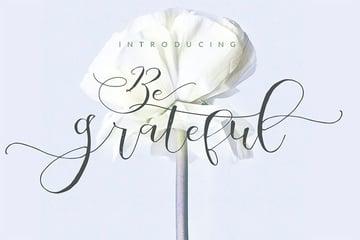 Be Grateful Signature Script Font