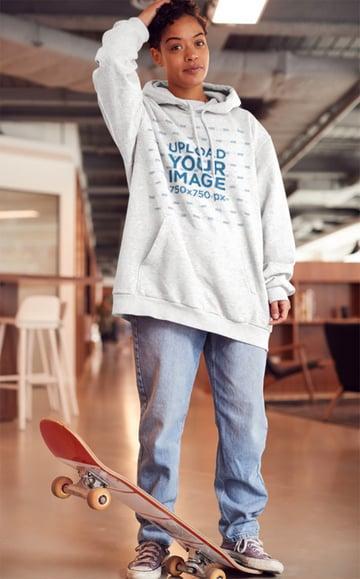 Skater Hoodie Mockup Template