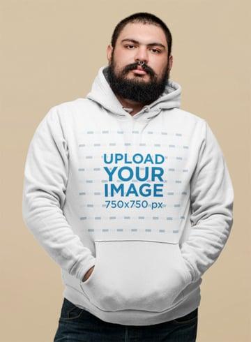 Hoodie Sweatshirt Mockup in Studio