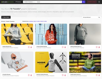 Premium Mockup Hoodie Design Templates at Envato Elements