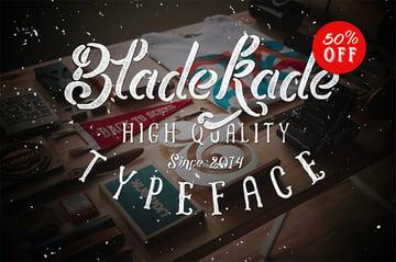 Bladekade Distressed Stencil Font