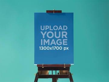 Poster Mockup Template at a Design Studio