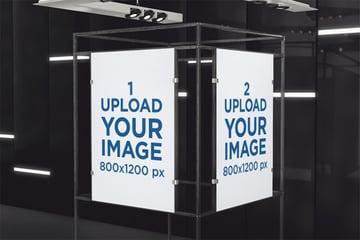 Two Poster Frame Mockup