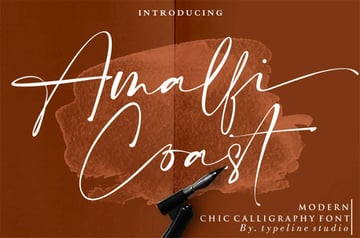 Amalfi Coast Free Calligraphy Font