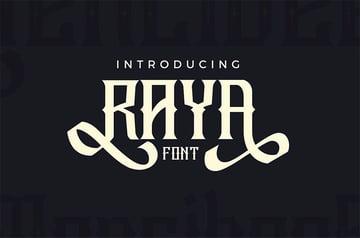 Raya Vintage Swash Flourish Font