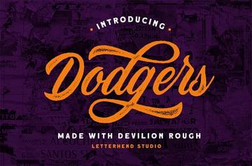 Devilion Rough Serif Fonts with Swashes