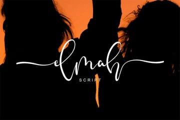 Elmah Script Font with Tails