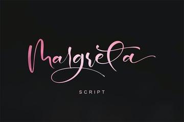 Margreta Cursive Font with Tails