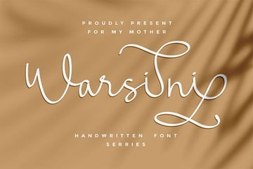 Warsini Font with Long Tails