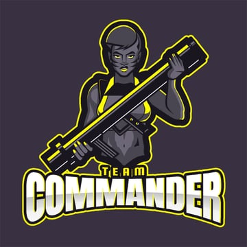 Clan Logo Template for Team Commander