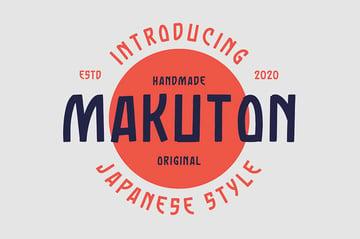 Makuton Japanese Style English Font