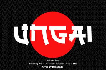 UNGAI - Japanese Style Fonts