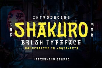 Shakuro - Japanese Calligraphy Style Font