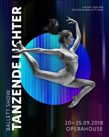 How to Create a Light Streak Effect for a Contemporary Ballet Poster in Adobe Photoshop