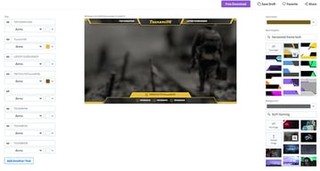 Click Your Chosen Free Twitch Overlay to Open the Free Twitch Overlay Maker