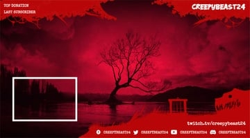 Red Twitch Overlay Template With Web Frame