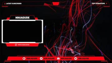 Abstract Twitch Overlay Template With Web Frame