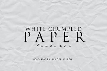 White Crumpled Paper Textures