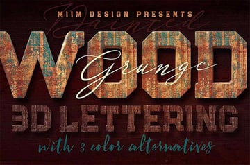 Grunge Painted Wood Pattern Photoshop