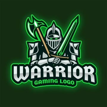 Best Gaming Logo Template with Warrior