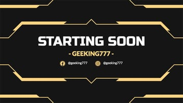 Twitch Starting Soon Overlay Template