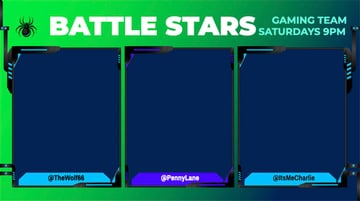 Twitch Overlay Template for a Gaming Stream