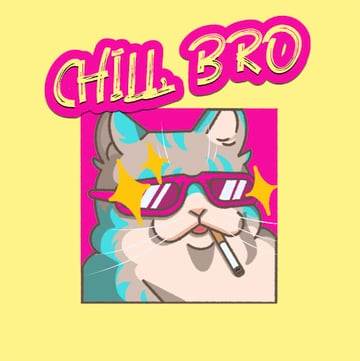 Twitch Emote of a Chilled Cat Smoking