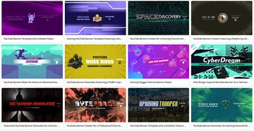 Select a YouTube Gaming Banner Template
