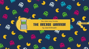 Arcade Gaming YouTube Banner Design Template