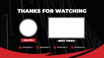 YouTube End Card Template with Abstract Frame