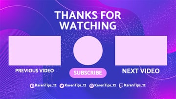 Stylish YouTube End Screen Template