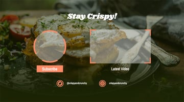 YouTube End Screen Maker Online Featuring Food Background