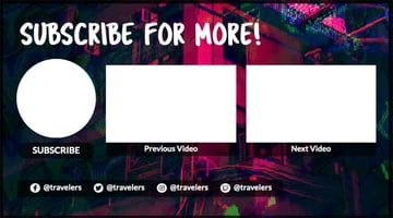 Abstract YouTube End Card Maker