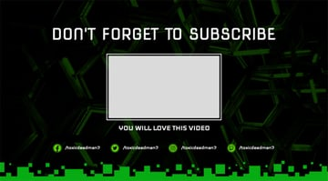 YouTube End Screen with Block Graphics