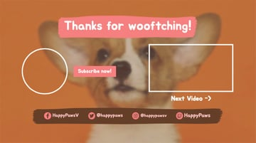 Pet-Friendly YouTube End Screen Template
