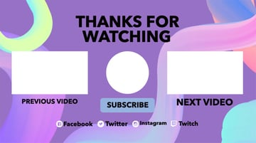 YouTube End Screen Maker Online with Pastel Tones
