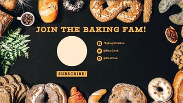 Bakers YouTube End Screen Card Template