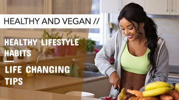 Simple YouTube Thumbnail Design Template for Healthy Lifestyle Vlogs