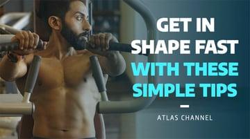YouTube Thumbnail Template for Fitness Vlogs