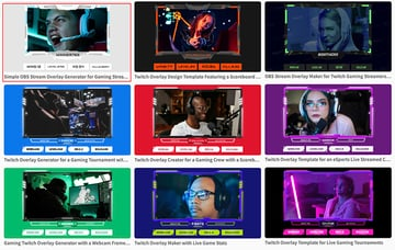 Select a Twitch Webcam Overlay Template From Placeit