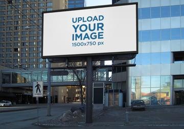 Outdoor Billboard Mockup in Business District