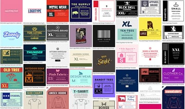 Select a Garment Label template