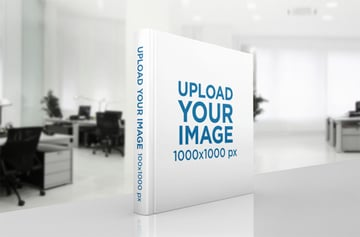 3D Book Mockup Standing in an Office Desk