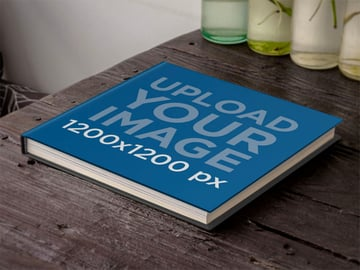 Square Coffee Table Book Mockup