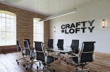 Inside 3D Wall Logo Mockup