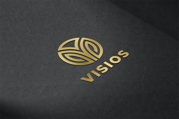 Gold Metallic Logo Mockup