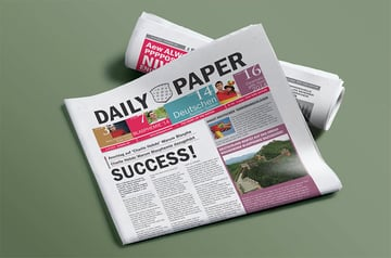 Newspaper Front Page Template