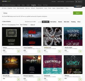 More Premium Fantasy Fonts From GraphicRiver