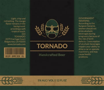 Lucha Themed Beer Label Template
